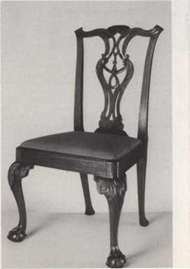 Figures 5 and 6. Side Chairs. The splat design of these chairs (interlaced elements centering on a diamond motif) was frequently used in New York, but variations of it occur on chairs from other regions