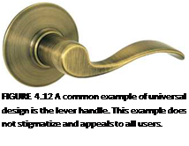 Подпись: FIGURE 4.12 A common example of universal design is the lever handle. This example does not stigmatize and appeals to all users.