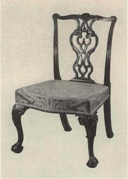 Ornamental Carving on Boston Furniture. of die Chippendale Style