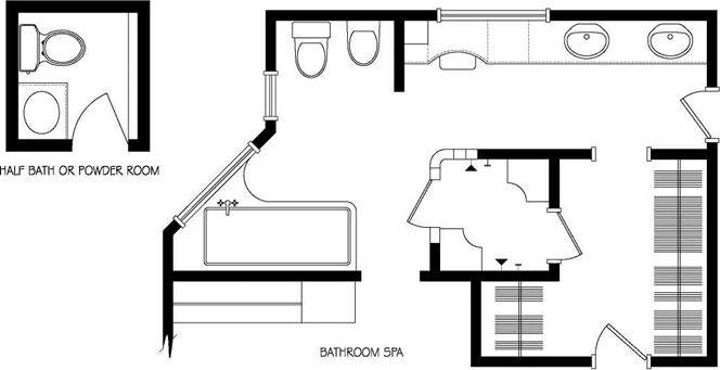 TYPES AND LOCATIONS OF BATHROOMS