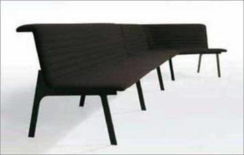 "ISO Sofa System, Michael Sodeau ""The sofa really came about through the design of the leg profile,"" says Michael Sodeau of his Iso Sofa. ""It's a weird, awkward shape,"" he says, ""a cantilevered profile."""