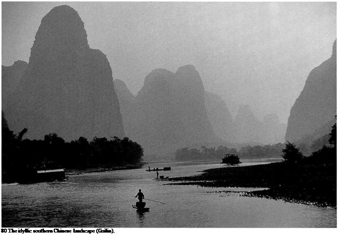 Подпись: 80 The idyllic southern Chinese landscape (Guilin).