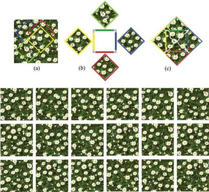 Texture Synthesis for Nonperiodic Tilings
