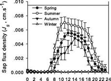 Transpiration Pattern of Chinese Pines at Multiple Time Scales