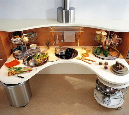 Design of modern kitchen; form and content