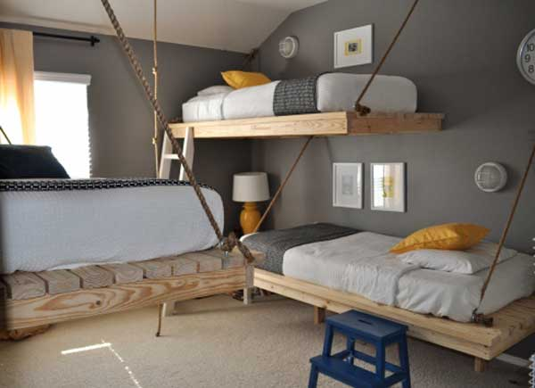 Two-story bed for a nursery. 30 new examples with a photo