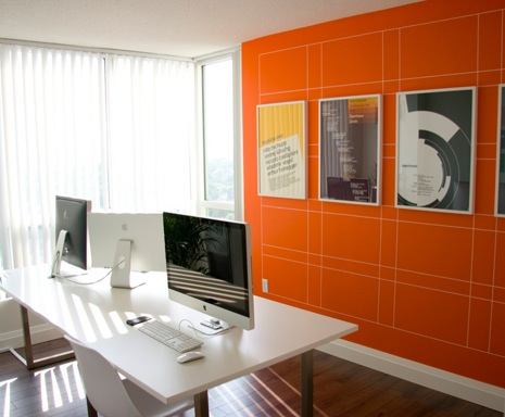 Graphics on walls from a vinyl tape