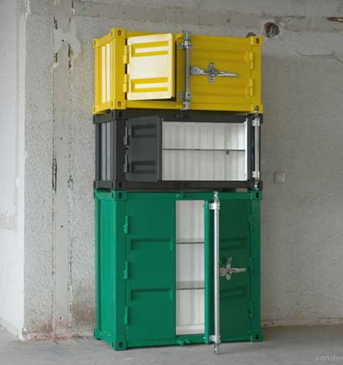 Furniture for the house from cargo containers