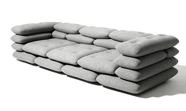 Myagenkaya a sofa from separate pillows