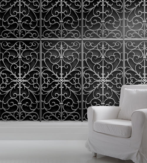 Paper wall-paper for walls with imitation of different coverings