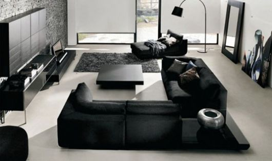 Dark color in an interior