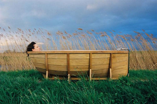 Wood bath boat