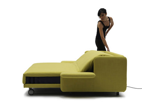 Sofa with an electromotor