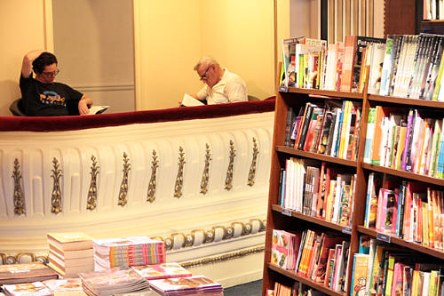 Interior design of a bookshop