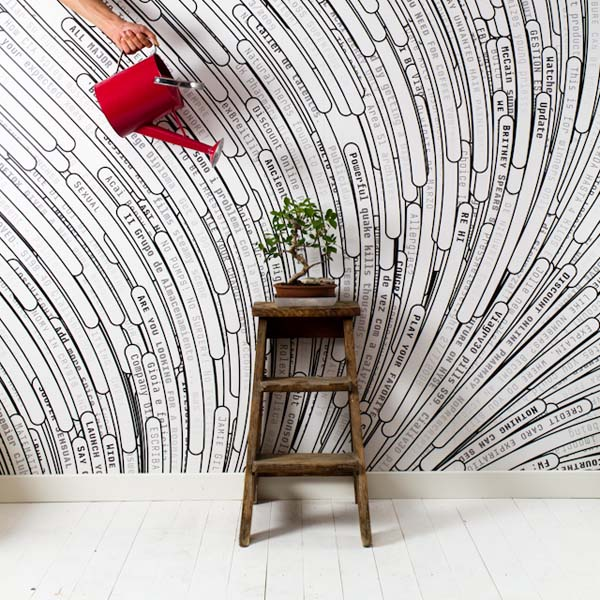 Photowall-paper to order from a web of garbage