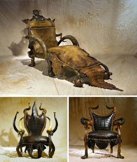 Gothic leather furniture