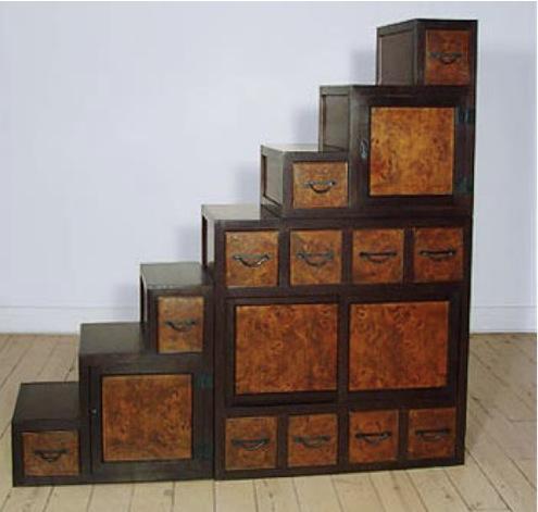 Japanese step case dresser of Kaidan Dansu