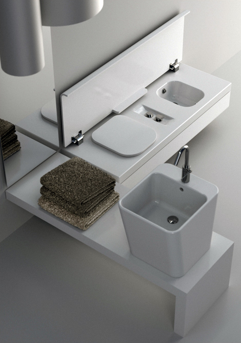 Small-sized bathroom equipment for a bathroom