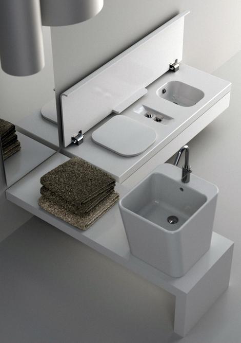 Small-sized bathroom equipment for a bathroom