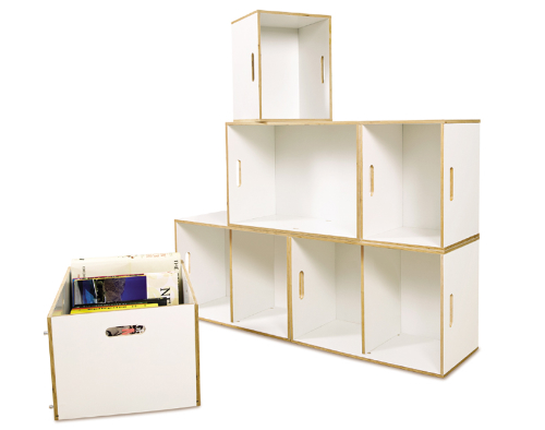 Modular furniture. Racks from boxes
