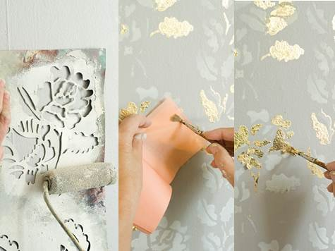 Updating of wall wall-paper