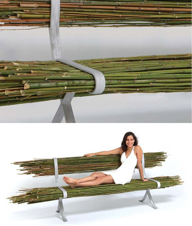 Garden bench from prutok