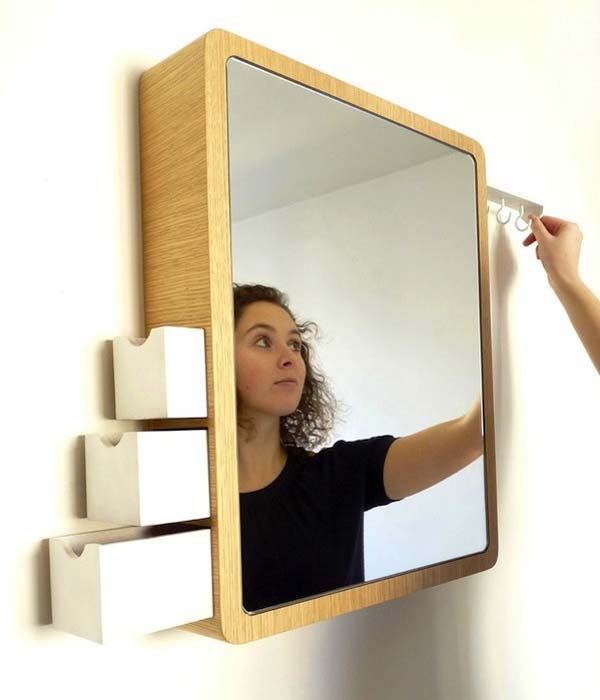 Mirrors in an interior