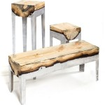 Authors furniture: alloy of metal and tree