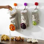 Storage of vegetables in modern kitchen