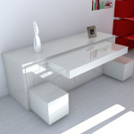 Furniture for economy of a place in the malekhanky apartment