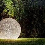 The garden lighting device from ceramics