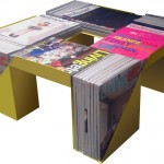 Coffee table from magazines
