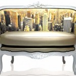 Sofas with a photo printing