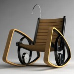 Modern rocking-chair with LED illumination